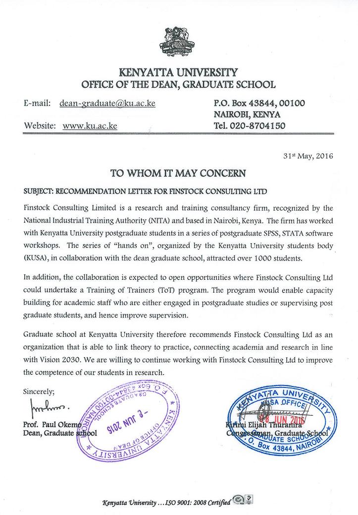 Testimonials - Finstock Consulting -Academic Consultancy